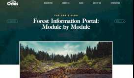Forest Information Portal - Orbis, Inc.