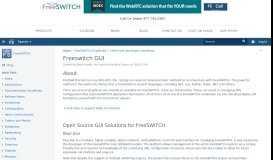 Freeswitch GUI - FreeSWITCH - Confluence