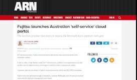 Fujitsu launches Australian 'self-service' cloud portal - ARN