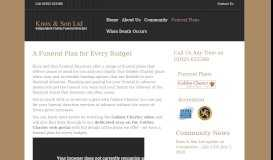 Funeral Plans - Knox Funerals