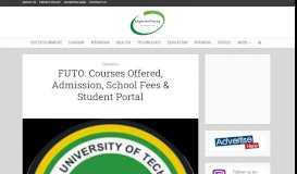 FUTO: Courses Offered, Admission, School Fees & Student Portal