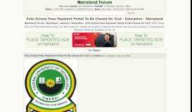 Futo School Fees Payment Portal To Be Closed On 31st - Education ...