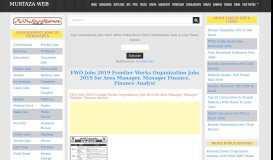 FWO jobs 2019   Frontier Works Organization Pakistan ... - Murtaza Web