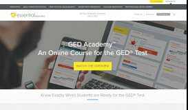 GED Academy Online Learning Program - Essential Education