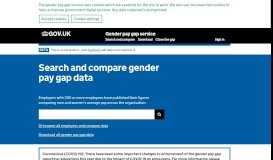 Gender pay gap data - GOV.UK