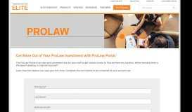 Get More Out of Your ProLaw Investment with ProLaw Portal - Elite