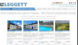 Gite Complex for sale in France - 548 French properties found ...