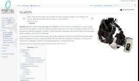 GLaDOS - Portal Wiki