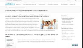 Global Mobility Management and Cost Containment   Optelcon ...