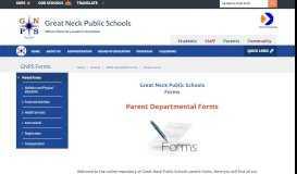 GNPS Forms / Parent Forms - Great Neck Public Schools