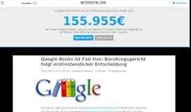 Google Books ist Fair Use: Berufungsgericht folgt erstinstanzlicher ...