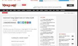 Government College Ughelli revels in $1 million facelift - Vanguard ...