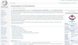 Government of Uttarakhand - Wikipedia