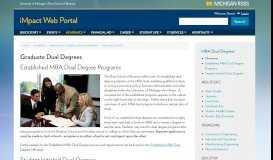 Graduate Dual Degrees | iMpact Web Portal | University of Michigan's ...