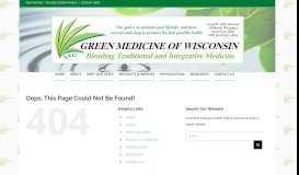 Green Medicine of Wisconsin 920-651-3600 Patient Portal
