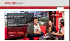 Griffith University International Apply Online (not Logged In) - Register ...