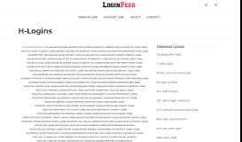 H-Logins - loginfeed.com
