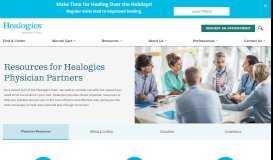 Healogics   Your Physician Portal   Healogics Specialty Physicians