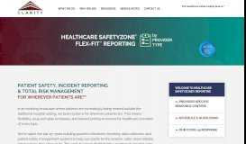 Healthcare SafetyZone® Incident Reporting & Risk ... - Clarity Group