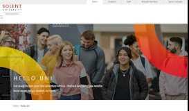 Hello Uni - Solent University