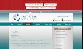 Hepatitis C - Long Island Digestive Disease Consultants