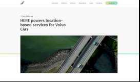 HERE powers location-based services for Volvo Cars
