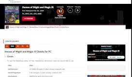 Heroes of Might and Magic III Cheats - GameSpot