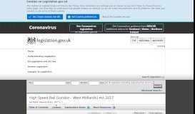 High Speed Rail (London - West Midlands) Act ... - Legislation.gov.uk
