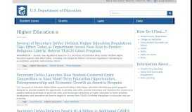 Higher Education   U.S. Department of Education