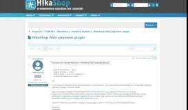 HikaShop iVeri payment plugin - HikaShop - HikaShop