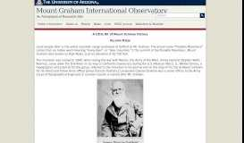 History of Mount Graham | Mount Graham International Observatory