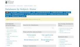 Home - Databases by Subject - Library guides at Monash University