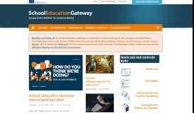 Homepage - School Education Gateway