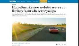 HomeSmart's New Website Serves Up Listings From Wherever You Go