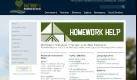 HomeworkResources - City of Bastrop
