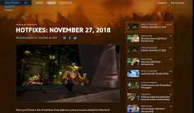 Hotfixes: November 27, 2018 — World of Warcraft — Blizzard News