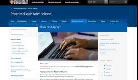 How Do I Apply?   Graduate Admissions