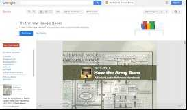 How the Army Runs: A Senior Leader Reference Handbook, 2017-2018 ...