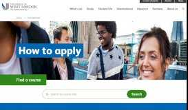 How to apply   International   University of West London