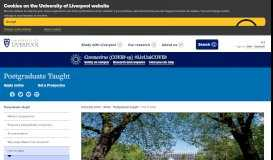 How to apply - University of Liverpool