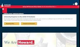 Howard University Home | Excellence in Truth and Service