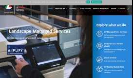 HP Managed Print Services, Printer Solutions Specialist-Landscape ...