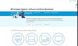HP Software and Driver Downloads for HP Printers, Laptops, Desktops ...
