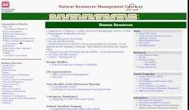 Human Resources - Natural Resources Management Gateway