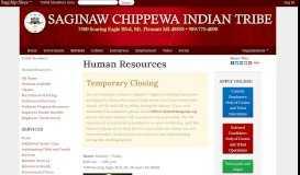 Human Resources - Saginaw Chippewa Indian Tribe