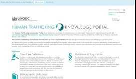Human Trafficking Knowledge Portal