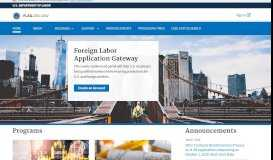 iCERT Portal System   U.S. Department of Labor
