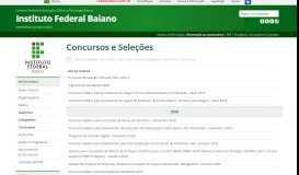 IF Baiano » Concursos e Seleções