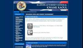 Illinois Attorney General - Ensuring Open and Honest Government