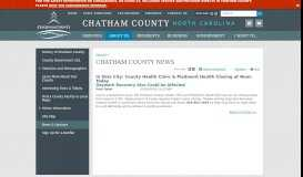 In Siler City: County Health Clinic & Piedmont Health Closing at Noon ...